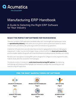 Manufacturing ERP Guide